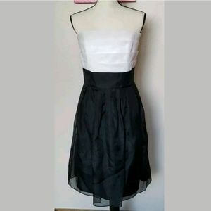 White House Black Market Silk Dress Size 12 Tiered